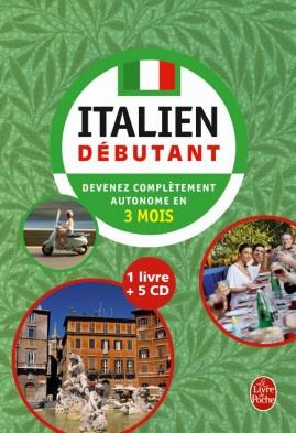 Coffret italien débutant livre + 5 CD